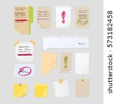 sticker notes vector set  post... | Shutterstock .eps vector #573182458