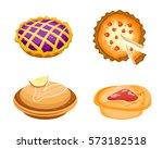 homemade organic pie dessert... | Shutterstock .eps vector #573182518