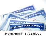 social security cards for... | Shutterstock . vector #573185038