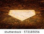 Home Plate On Baseball Diamond...