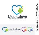 medical love  heart  hospital ... | Shutterstock .eps vector #573187054