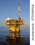 oil platform  offshore peru | Shutterstock . vector #573190918