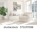 white room with armchair and... | Shutterstock . vector #573199588