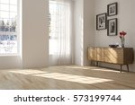 white room with shelf and... | Shutterstock . vector #573199744
