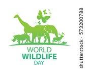 World Wildlife Day, March 3 | Shutterstock vector #573200788