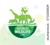 world wildlife day  march 3 | Shutterstock .eps vector #573200839