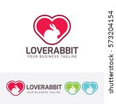love rabbit  animal  cute  love ... | Shutterstock .eps vector #573204154
