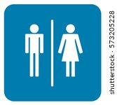 wc toilet sign blue. vector. | Shutterstock .eps vector #573205228