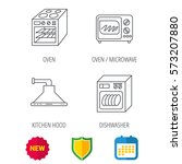 microwave oven  dishwasher and... | Shutterstock .eps vector #573207880