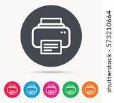 printer icon. print documents... | Shutterstock .eps vector #573210664