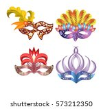 carnival masks for venetian... | Shutterstock .eps vector #573212350