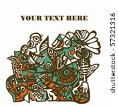 Cartoon Abstract Pattern With...