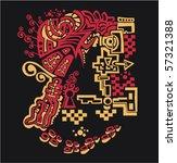 abstract design. sketch texture ... | Shutterstock .eps vector #57321388