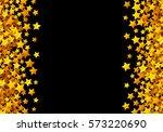golden stars glitter scattered... | Shutterstock .eps vector #573220690