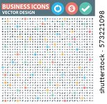 business icon set clean vector | Shutterstock .eps vector #573221098