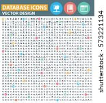 database icon set clean vector | Shutterstock .eps vector #573221134