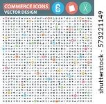 commerce icon set clean vector   Shutterstock .eps vector #573221149