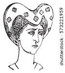 hairstyles women  1360 1390 ... | Shutterstock .eps vector #573221959