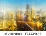 network connection technology... | Shutterstock . vector #573224644