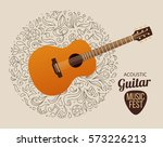 banner with acoustic guitar on...