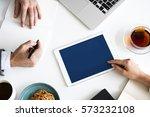 digital device planning... | Shutterstock . vector #573232108