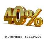 gold sale 40   gold percent off ... | Shutterstock . vector #573234208