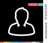 user icon   person profile... | Shutterstock .eps vector #573237154