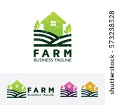 farm  home. vector logo template | Shutterstock .eps vector #573238528