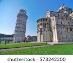 pisa  italy   march 2011  pisa... | Shutterstock . vector #573242200
