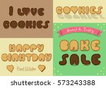inscriptions by sweet artistic... | Shutterstock .eps vector #573243388