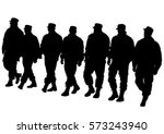 people of special police force... | Shutterstock .eps vector #573243940