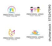 preschool logo vector | Shutterstock .eps vector #573247090