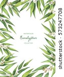 watercolor hand painted green... | Shutterstock . vector #573247708