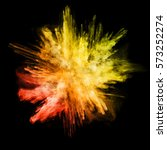 Explosion Of Colored Powder ...