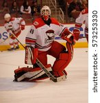 Small photo of Michael Leighton goalie for the Charlette Checkers at Gila River Arena in Glendale Arizona USA February 3,2017.