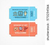 tickets museum of history or... | Shutterstock .eps vector #573254566