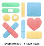 aid band plaster medical patch... | Shutterstock .eps vector #573254836
