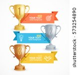 award cup menu infographic... | Shutterstock .eps vector #573254890