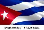 cuba flag. waving colorful cuba ... | Shutterstock . vector #573255808