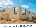 new residential  brick house... | Shutterstock . vector #573260398