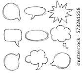 vector big speech bubble set....