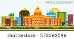 montgomery skyline with color... | Shutterstock . vector #573263596