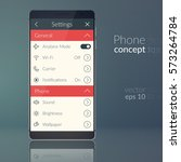 phone design concept with flat...