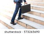 first morning of work... | Shutterstock . vector #573265690