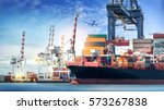 logistics and transportation of ... | Shutterstock . vector #573267838