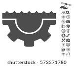 water service gear pictograph... | Shutterstock .eps vector #573271780