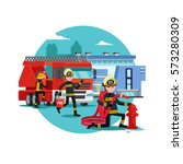 Colorful Firefighting Template...