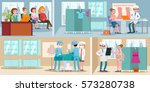 medical treatment horizontal... | Shutterstock .eps vector #573280738