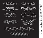 vector collection of hand drawn ... | Shutterstock .eps vector #573281383