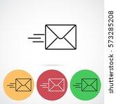 line icon  sending a message | Shutterstock .eps vector #573285208